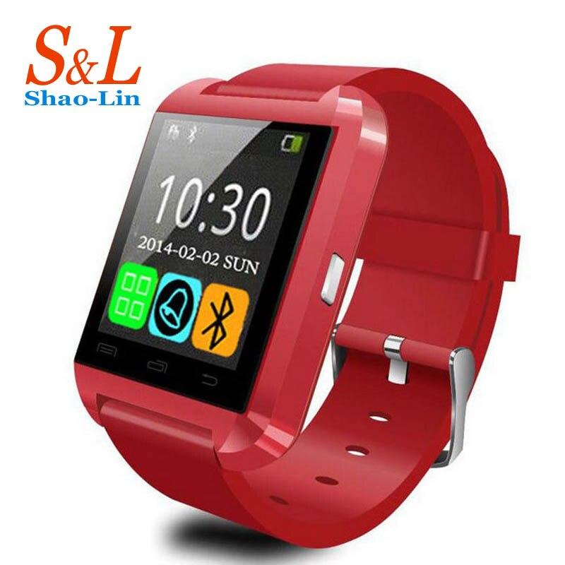 imágenes para Nueva u8 bluetooth smart watch reloj para samsung s4/note 2/note 3 htc lg huawei xiaomi android smartphones teléfonos