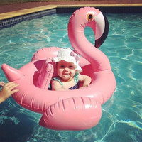 1 Piece Summer Flamingo Swim Ring Cute Animal PVC Inflatable Swimming Ring For Baby Children Outdoors