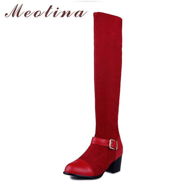 Aliexpress.com : Buy Meotina Women Boots Thigh High Boots Spring ...