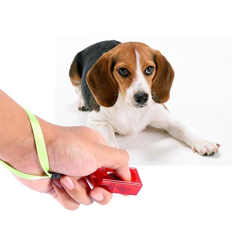 Hond Clicker Klik Training Gehoorzaamheid Puppy Kat Knop Trainer Hulp Wrist Hond Levert