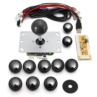 DIY Handle Arcade Set Kits 24mm 30mm Push Buttons 5 Pin Joystick Replacement Parts USB Cable