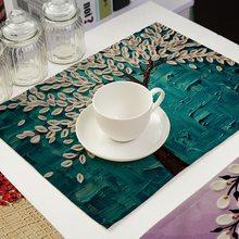 Масляная живопись водонепроницаемая салфетка для обеденного стола жаростойкий нескользящий коврик для стола миска подставка для посуды аксессуары для дома