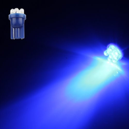 TOYL 10 LAMPADINE T10 6 LED BLU LUCE INTERNO TARGA CRUSCOTTO