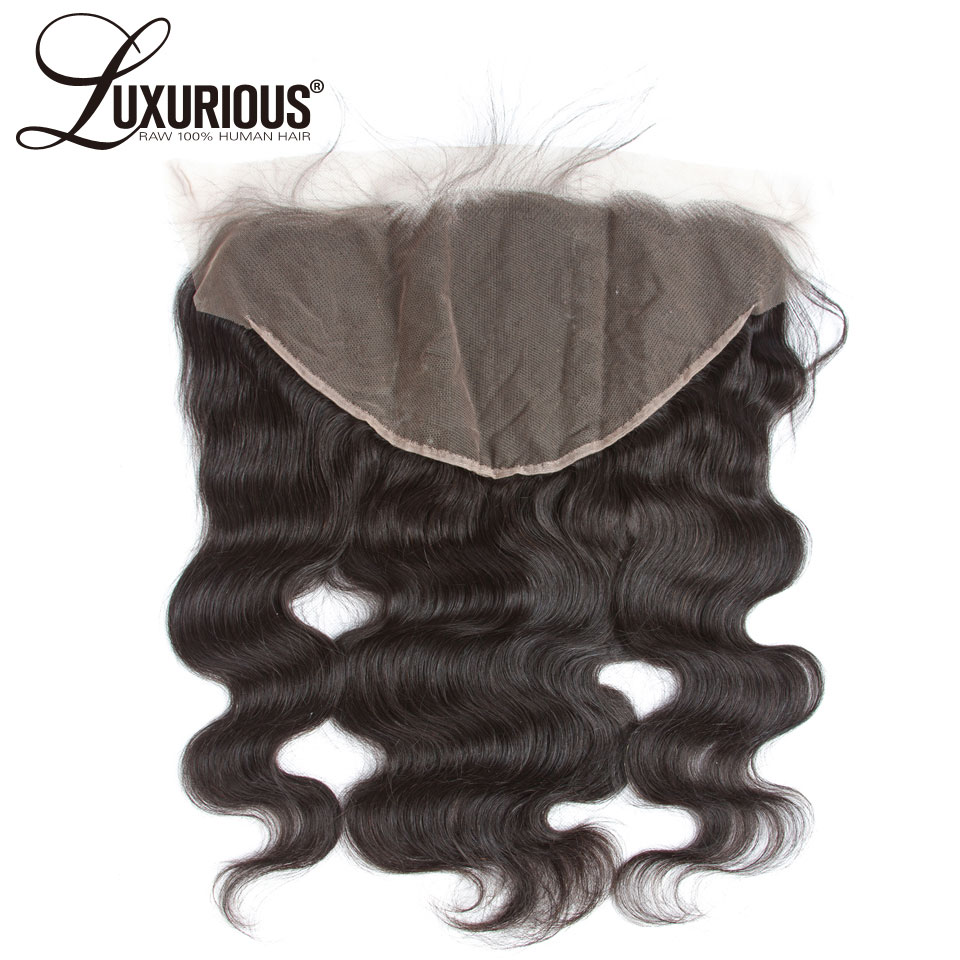 Luxurious Pre Plucked Ear To Ear 13x6 Lace Frontal Closure With Baby Hair 8-20inch Body Wave Brazilian Remy Human Hair Free Part