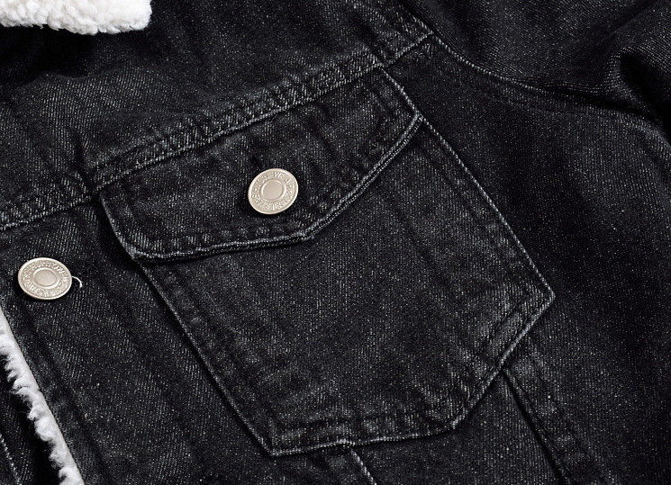 Bomber D'hiver Jeans Hommes Hombre Veste Laine Denim Noir Épais Taille Manteau Plus 5xl Chaqueta Doublure Chaude 7414 Mince 2018 La xwf7qCnEtU