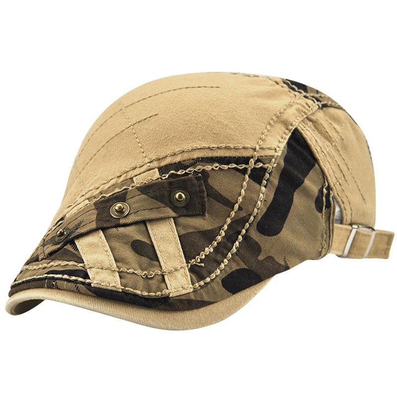 JAMONT Peaked Cap Berets Hats Retro-Caps Gorras-Bone-Flat-Caps Adjustable British Cotton