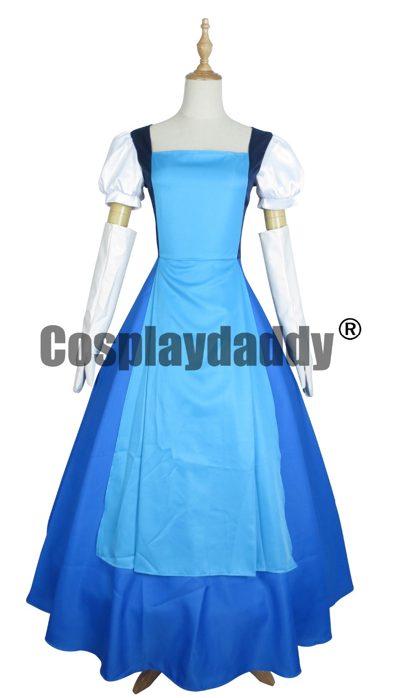 Steven Universe Jail Break Sapphire Blue Gown Dress Cosplay - Carnavalskostuums
