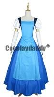 Steven Universe Jail Break Sapphire Blue Gown Dress Cosplay Costume