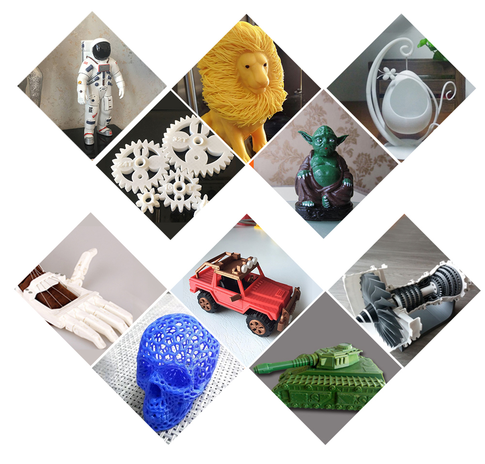 2019 New 3d Printer Cube Kit Large Printing Size Metal Frame Dual extruder Printer 3D Wifi Auto level One Rolls Filament SD Card