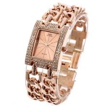 купить 2016 New Fashion Women's Wrist Watch Analog Quartz Watches Stainless Steel Band Rose Gold по цене 976.32 рублей