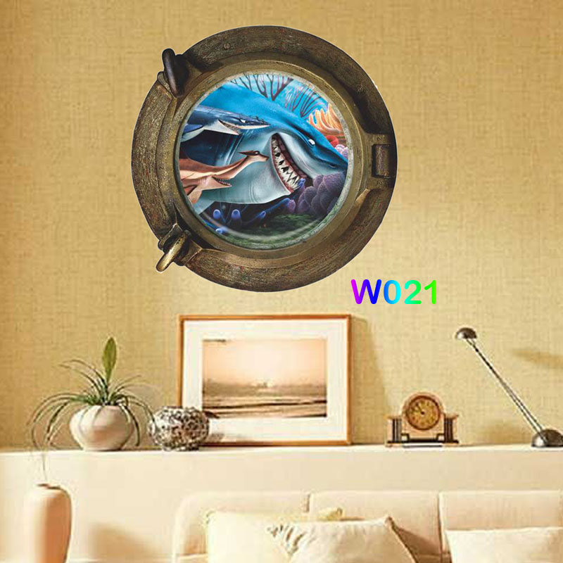 find nemo dory fish submarine portholes wall stickers for kids room ...