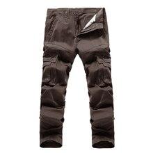 2017 hohe qualität Männer Cargohose multitaschen Baggy Pants Baumwolle Military Camouflage Hose Freies verschiffen