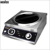 XEOLEO 5000W Commercial Concave Induction Cooker Stainless steel Electromagnetic Heating Cooker Electromagnetic Stove 220V