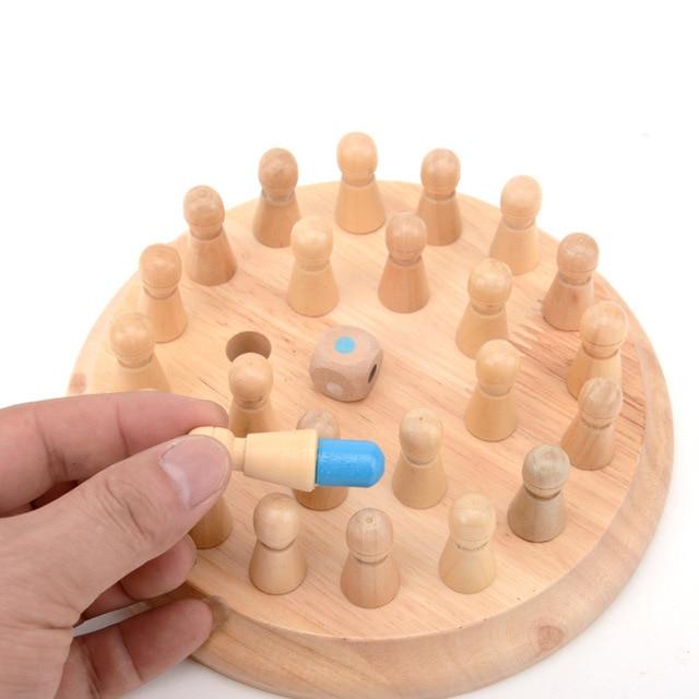 I bambini del partito di gioco di Legno di Memoria Partita Bastone di Gioco di Scacchi Divertimento a Bordo di Blocco Gioco Educativo di Colore Capacità Cognitive Giocattolo per I Bambini 4