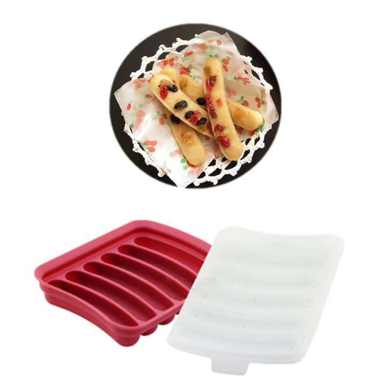 Creatieve Rode Siliconen Hot Dog Schimmel Diy Zelfgemaakte Worst Mallen Hot Dog Cake Bakken Tools EJ601574