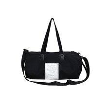 Черная нейлоновая сумка для йоги, простая ручная сумка для багажа, водонепроницаемая женская спортивная сумка с обувным отсеком, большая дорожная сумка Holdall