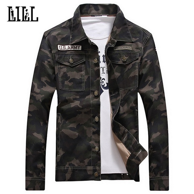 Cotton Camouflage Jacket Men Women Spring US Army Camo Coat Male Military  Style OuterWear Slim Casual Jean Jackets Button cc76191f3