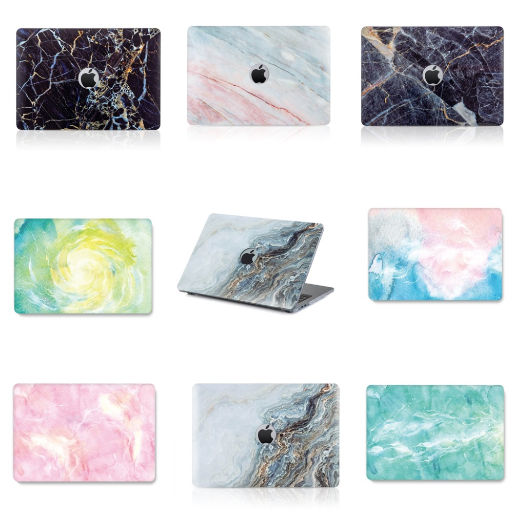 2018 New PC IMD marble smooth wear Laptop Case For Apple mac