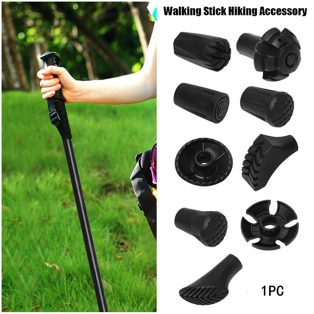 1PC Nordic Walking Sticks Tips Trek Pole Replacement Tips Hiking Alpenstock Accessories Adjustable Walking Stick Head Protectors