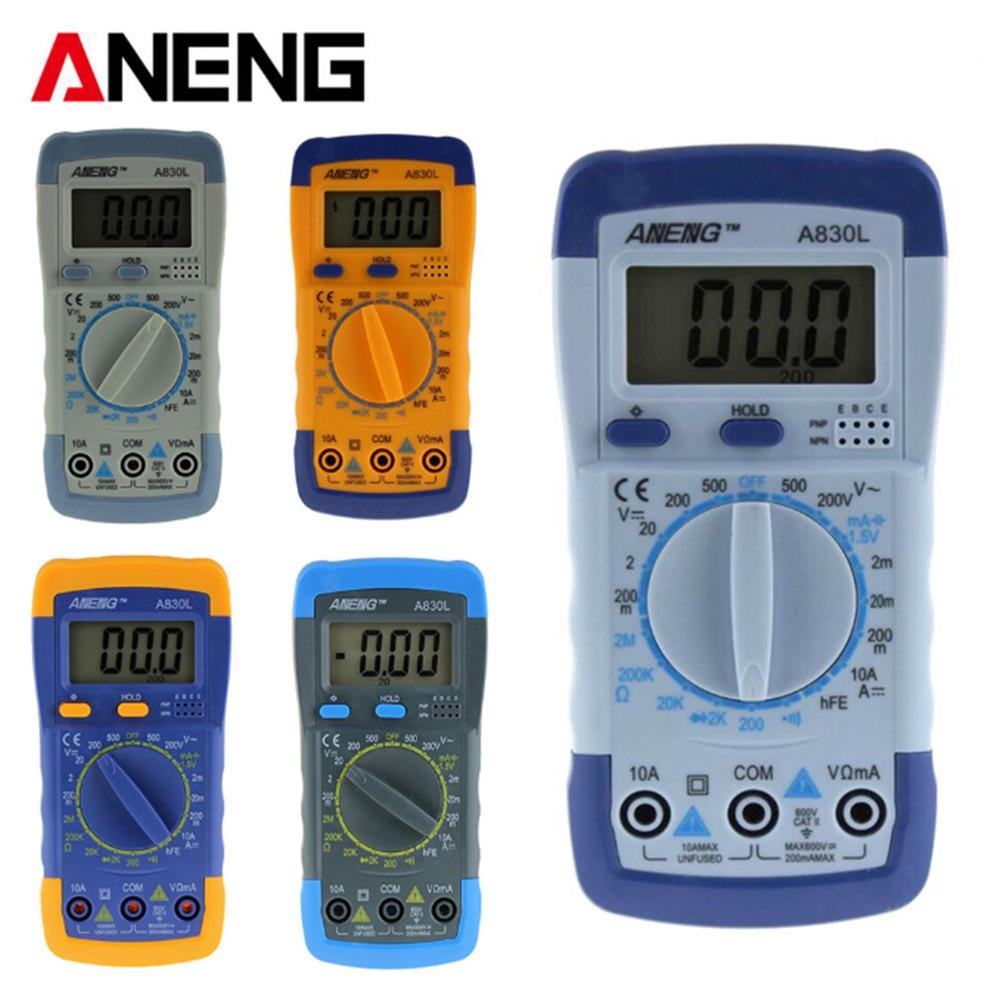 все цены на  ANENG A830L LCD Digital Multimeter Test Current AC/DC Voltmeter Diode Freguency Multitester Volt Tester Transistor Tester  онлайн
