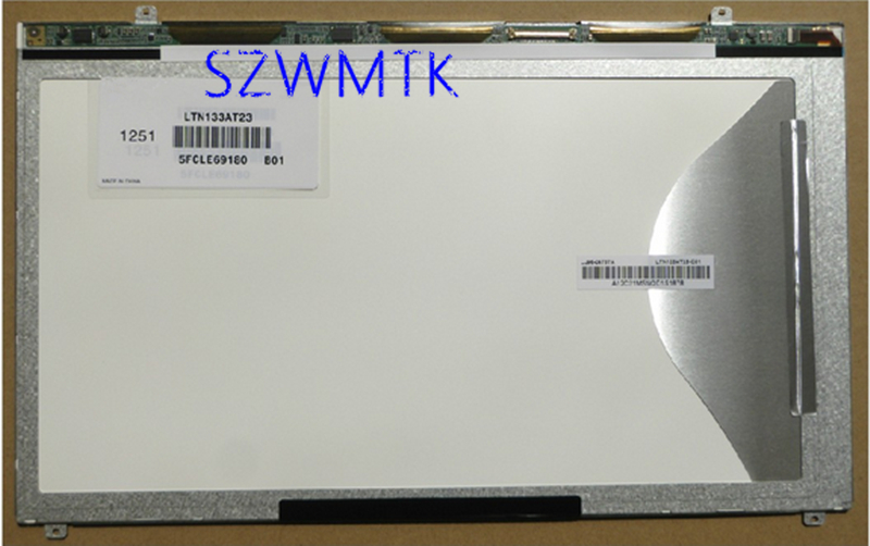 Laptop LCD Screen Panel Display LTN133AT23-801 For Samsung 300V3A-S04 NP530U3B U3C remote switch wall light free shipping 3 gang 1 way control touch us standard gold crystal glass panel with led electrical