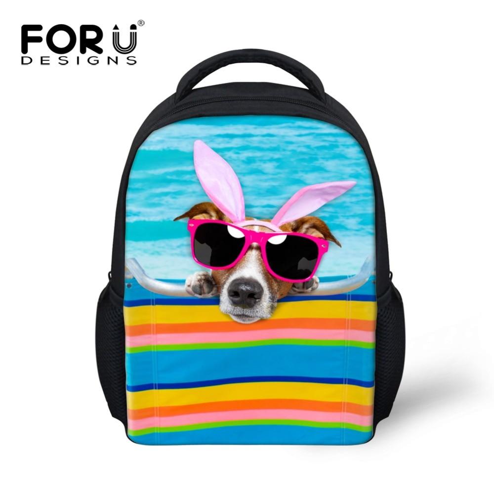 Cute Girls School Bags Mini Children Animal Bulldog Orthopedic Schoolbag Small Kindergarten Book Bag Mochila for 3-8 Year Kids