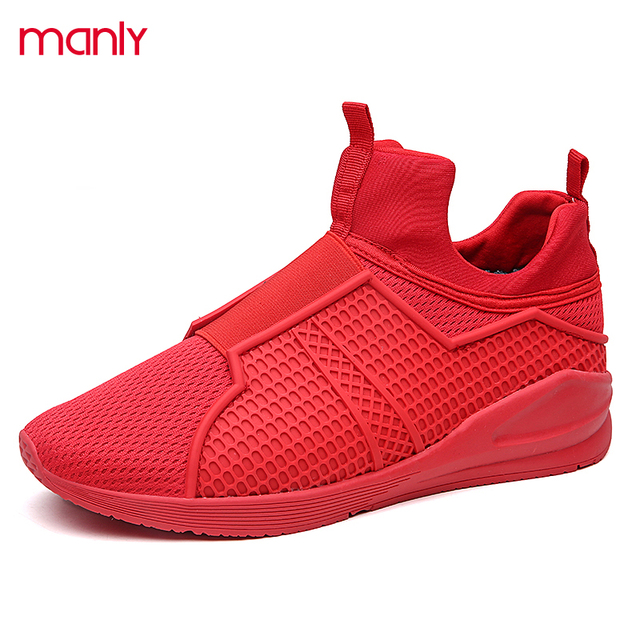 newest c9403 531df US $30.63 | Men's Winter Fur Boots Breathable Mesh High Top Sport Trainers  Red Bottom Casual Walking Ankle Boots For Men Zapatillas Hombre-in Men's ...