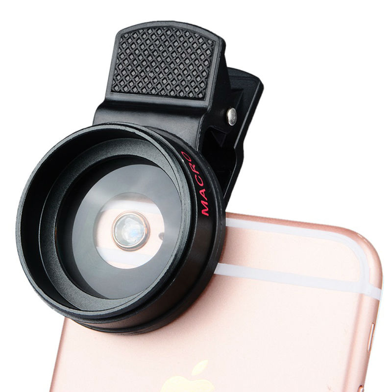 Universal Professional HD Camera Lens 0.45x Super Wide Angle Lens + Macro Lens for iPhone for huawei FOR Samsung Mobile Phone 11