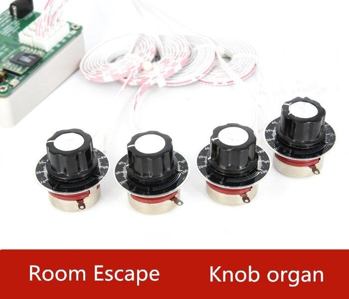 Techvunsan Real life Room Escape game prop Chamber of Secrets Knob organ Rotating mechanism