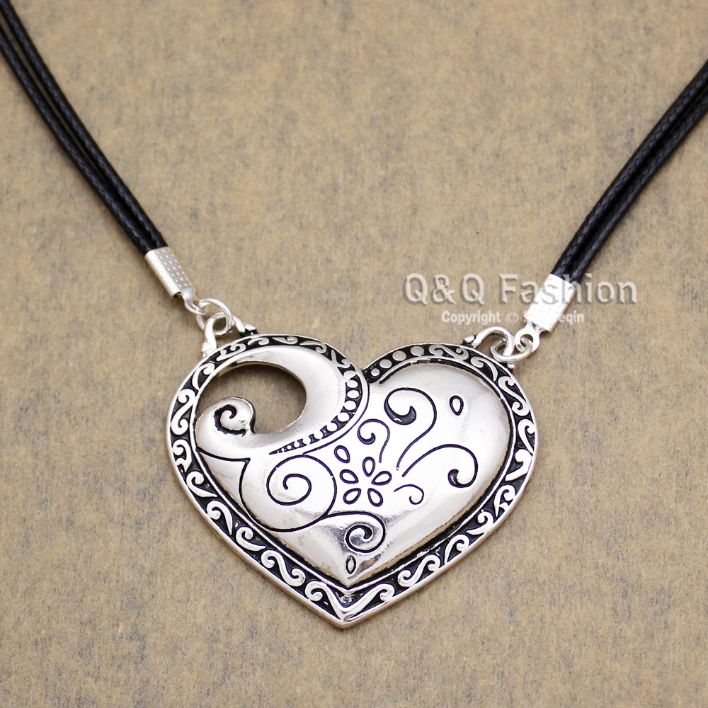 bling heart sterling jewelry way pendant photo etched four necklace silver locket inch