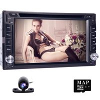 Touch Screen 2DIN In Dash GPS Nav Car DVD Player Bluetooth Auto Stereo Radio CAM Gps