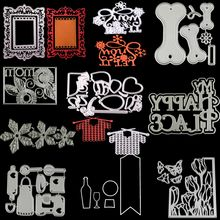 New lace frame bone flowers Metal Cutting Dies Stencil for DIY Scrapbooking Photo Album Embossing Paper Cards Decorative Crafts(China)