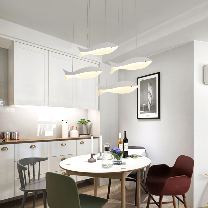 Aliexpress.com : Buy Restaurant Chandeliers Led Modern Minimalist Dining  Room Lamp Creative Personality Fish Shaped Table Coffee Cafe Bar Lamps From  ...