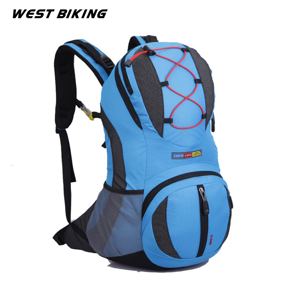 WEST BIKING 22L Backpack for Bike Bicycle Cycling Bag Travel Running Sport Cycling Backpack+2L Water Bag Road Mountain Bag-in Bicycle Bags & Panniers from Sports & Entertainment    2