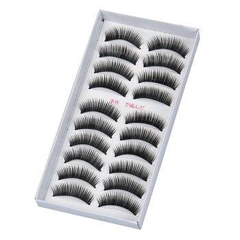 MAG 10 pairs Long Cross False Eyelashes Makeup Natural Fake Thick Black Eye Lashes наращивание ресниц L525