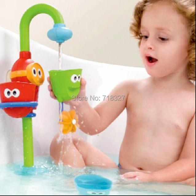 Brinquedos de banho do bebê banho de chuveiro torneira de água fonte empilhador empilhador brinquedo de banho brinquedos brinquedos do bebê