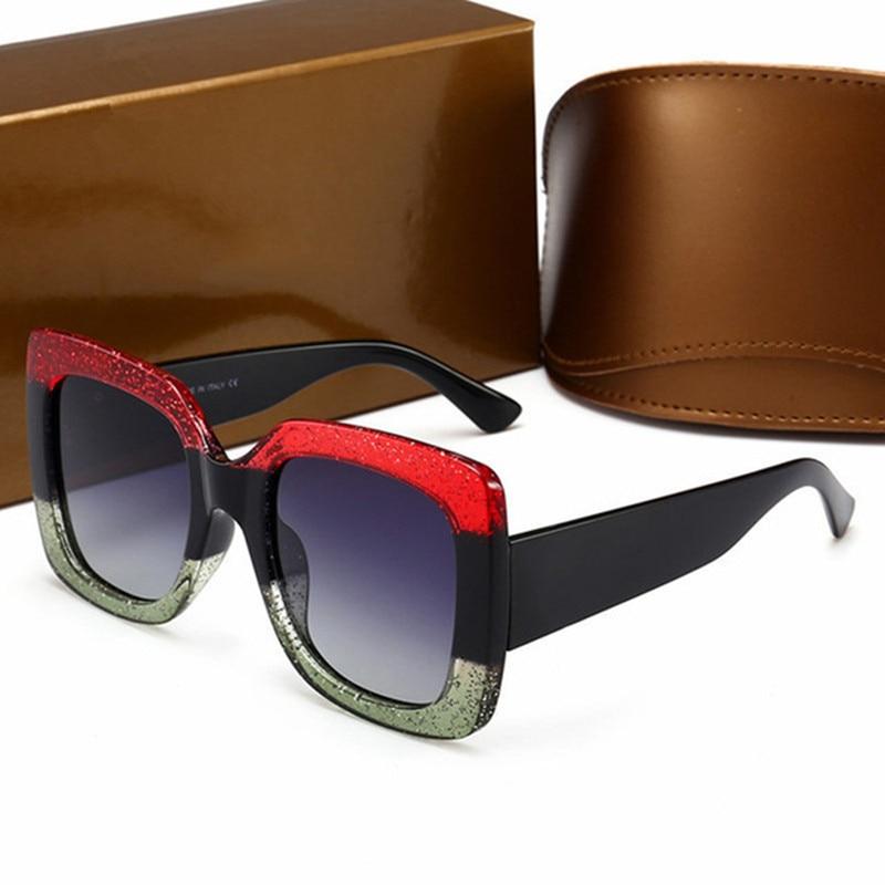 Newest Oversized Square Sunglasses Women Luxury Italy has logo Brand