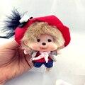 2016 новых мужчин красивая роскошные симпатичные куклы Monchichi Sleutelhanger ключ мех кролика пом мяч брелок брелки лисий мех