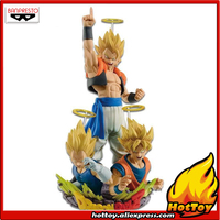 100% Original Banpresto Dragon Ball Z Com:Figuration GOGETA Vol.1 & 2 Toy Figure Super Saiyan Gogeta + Son Gokou Vegeta