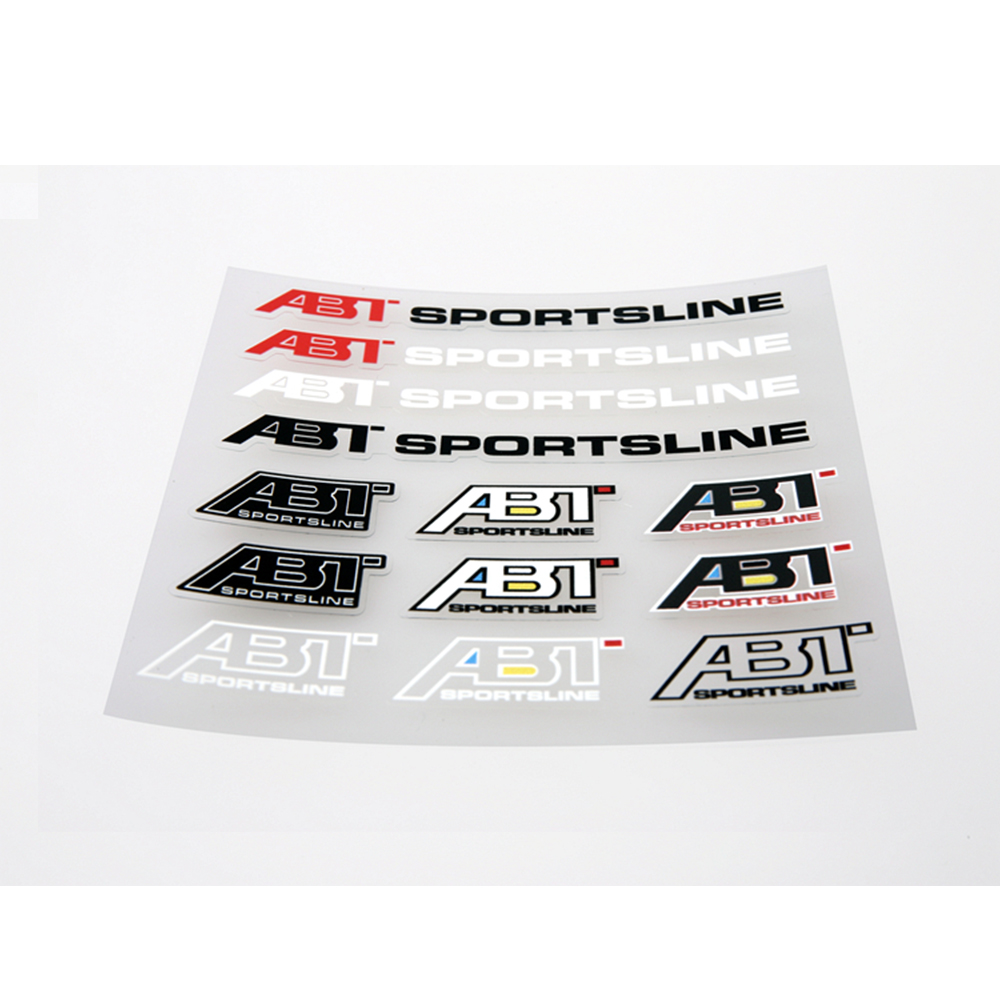 Aliauto Car Styling ABT Sportsline  Accessories Sticker and Decal for Volkswagen polo golf tiguan passat b6 b8 Audi Skoda aliauto car styling car side door sticker and decals accessories for mini cooper countryman r50 r52 r53 r58 r56