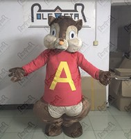 Eksport wysokiej jakości alvin mascot kostiumy kostiumy kostiumy darmowa wysyłka jakość wiewiórka chipmunk maskotki kostium myszy