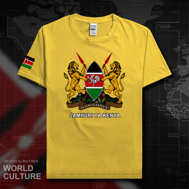 Republic of Kenya Kenyan men t shirt fashion jerseys nation team 100 cotton t-shirt country sporting clothing tees KEN 20