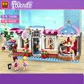 БЕЛА Совместимость Legoe Друзья Heartlake Город Кекс Кафе 41119 хлебобулочные Парк Строительный Кирпич, бэк-кухня игрушка