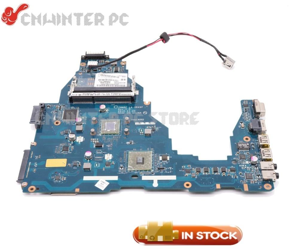 NOKOTION K000124430 PWWBE LA 6849P Main Board For Toshiba Satellite C660 Laptop Motherboard E350 CPU DDR3