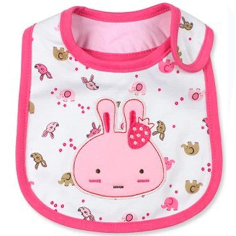 Waterproof Baby Bibs Cute Cartoon Pattern Toddler Baby Saliva Towel Cotton Infant Burp Cloths Feeding Fit 0-3 Years Old Baby