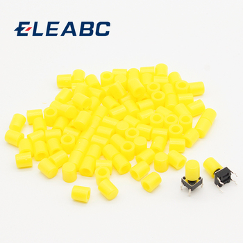 100pcs/lot Yellow Plastic Cap Hat G62 for 6*6mm Tactile Push Button Switch Lid Cover - sale item Electrical Equipment & Supplies