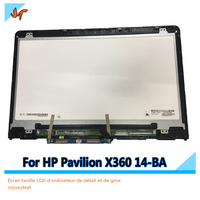 For HP PavilionX360 14 ba007nx 14 BA 14M BA 1920X1080 FHD14.0 inch digitizer assembly panel replacement LCD display touch screen