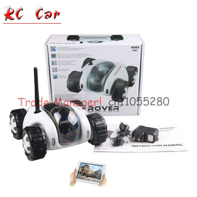 Бесплатная доставка WI-FI RC шпион автомобиль, ipad инфракрасная камера ночного видения видео автомобиль игрушки танки ОБЛАКО ROVER