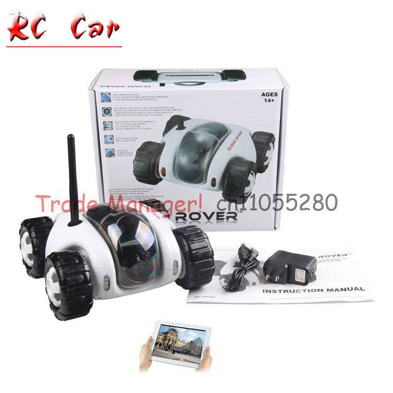 Free shipping WIFI RC spy car, ipad infrared night vision camera video toy car tanks CLOUD ROVER