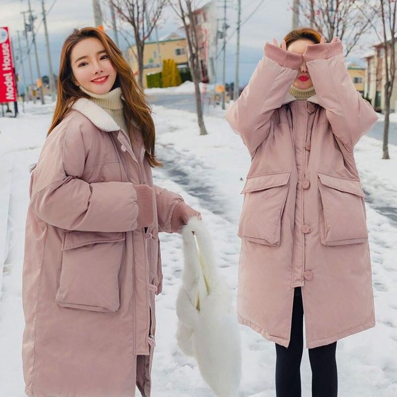 Chaud Corne À Vintage pink Hf430 Apricot Boucle Épais Coton Mode Capuche De Outwear Vestes Manteau Arrivée D'hiver Pardessus Femmes Nouvelle Color Rembourré 6v7qz